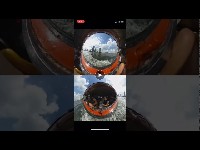 Эффект Dual Screen в приложениях для редактирования THETA и THETA Video