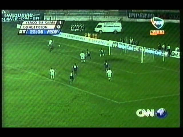 Gol Vasco da Gama 1 0 Concepción Copa Libertadores 2001 Oitavas de finais jogo 2