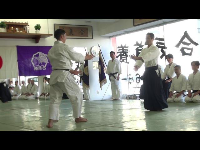 平成30年養神館鏡開き 乗木道場長の演武 2018Yoshinkan Kagamibiraki Noriki Dōjō chō Demo