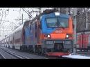 С приветливой бригадой ЭП20 001 со скорым двухэтажным поездом №737 Воронеж Москва