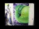 ASMR. Рисование. Зеленое яблоко. Мастер-Класс. Живопись маслом. Green Apple. АСМР. Drawing.