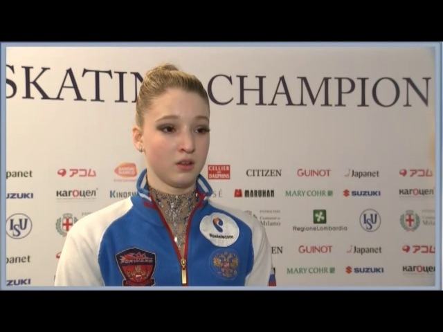 Интервью Марии Сотсковой после КП на чемпионате мира 2018