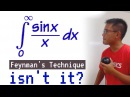The main dish, integral of sin(x)/x from 0 to inf, via Feynman's Technique