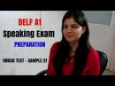 French DELF A1 Exam Speaking Preparation - Production Orale - Simulation de loral DELF A1