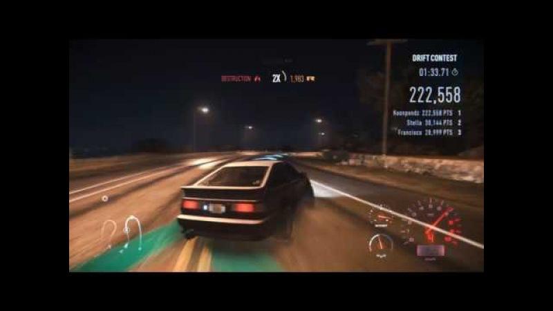 Need for speed : AE86 Test drift hachiroku