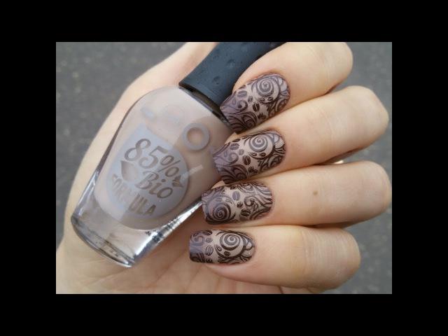 Кофейный маникюр с лаками Nail LOOK Coffee nail art with NailLOOK