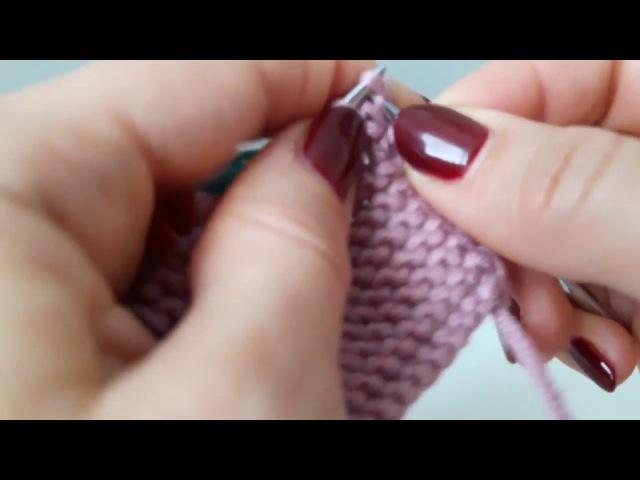 Убавление петель при вязании платочной вязкой