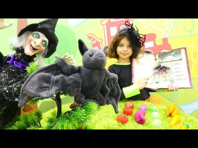 Cadı Caty oyunu. Genç cadı okulundan dönüyor