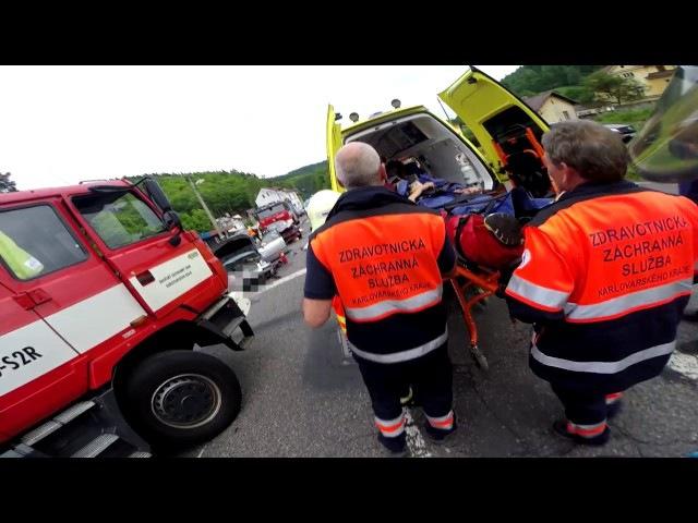 HZS KVK: Zásah u vážné nehody v Oloví pohledem hasičů