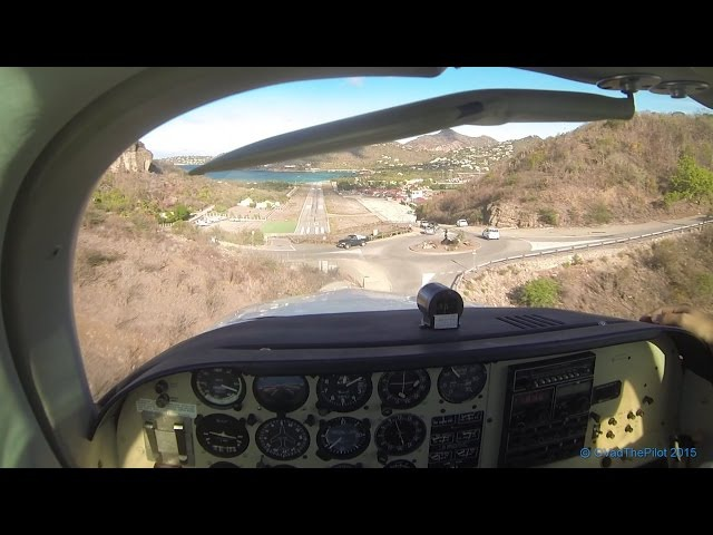 Landing at St Barths TFFJ (Pilots View) _ Straight In RWY 10 (Part 1)