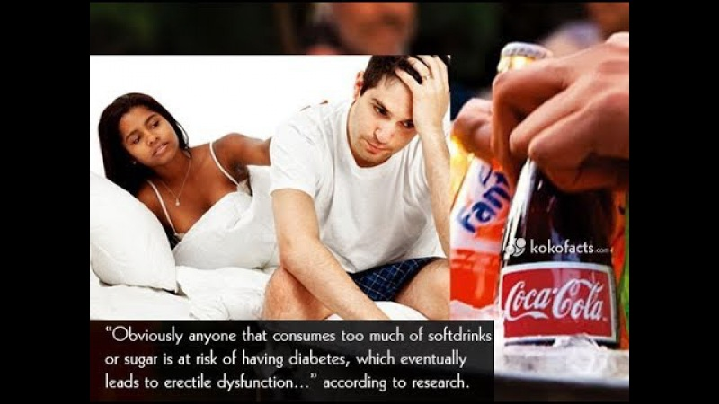 Does diet soda cause erectile dysfunction