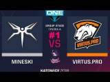 VP vs Mineski RU #1 (bo3) ESL One Katowice 2018 Major Group A 20.02.2018