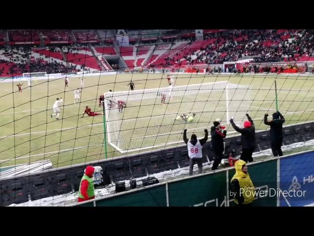 Гол Луиса Адриано в ворота Рубина глазами фанатов СПАРТАК (Москва)