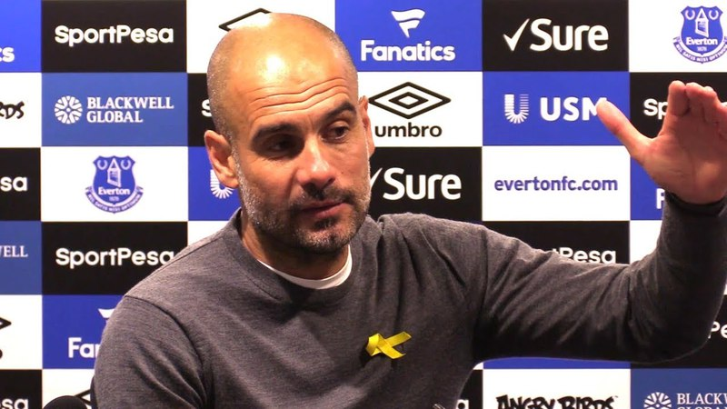 Everton 1-3 Manchester City - Pep Guardiola Post Match Press Conference - Embargo Extras