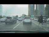 В Алматы всадник на страусе бегает по Аль-Фараби