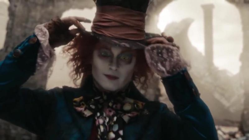 Джонни Депп исполняет Джига-Дрыга (Алиса в Стране чудес Alice in Wonderland, 2010)