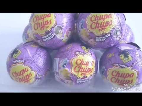 Распаковка13 шоколадных шаров Чупа чупс Алиса знает что делать