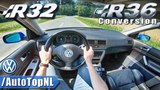 VW GOLF R32 | R36 SUPERCHARGED 3.6 V6 | POV Test Drive by AutoTopNL