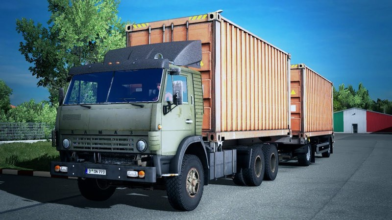 Kamaz 5320 with Trailer v1.0 - Euro Truck Simulator 2 Mod