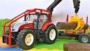 Большой трактор. Видео про машинки для детей. Игрушки для мальчиков