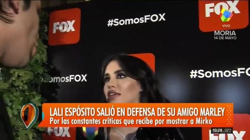 Lali Esposito defendió a Marley por las criticas de Jorge Lanata sobre el cuidado de Mirko