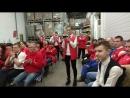 Поздравление сотрудников в гипермаркете Ашан