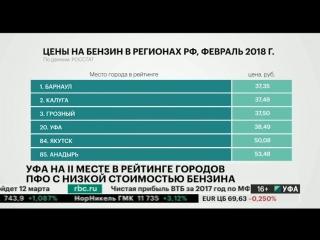Уфа - на 2 месте в рейтинге городов ПФО с самой низкой стоимостью бензина