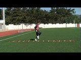 Football coaching video - soccer drill - ladder coordination (Brazil) 20