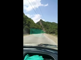 Табасаранский район Дагестана. Хучнинский водопад на реке Ханаг. ЮжДаг