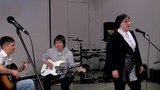 15 Ансамбль учеников Гроза (Алексей Першин, Дарья Майорова гитары, Елена Дубровина вокал)