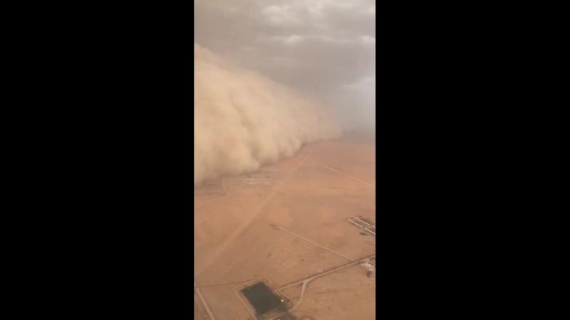 Ураган, вид с самолета