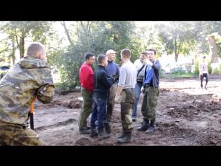 Археологические раскопки в сквере К.Иванова