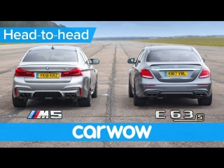 New BMW M5 vs Mercedes-AMG E63 S - DRAG RACE, ROLLING RACE & BRAKE TEST