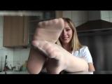 Blonde girl POV feet pantyhose