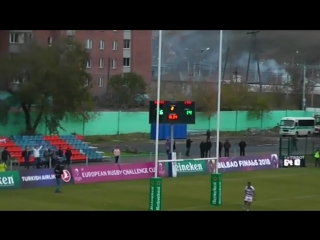 Дроп-гол Рамиля Гайсина в матче Кубка Вызова