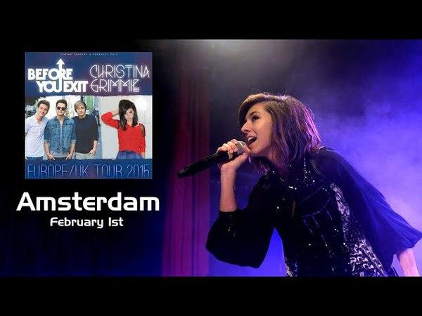 Christina Grimmie Concert - Amsterdam Feb.1, 2015