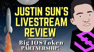 Justin Sun LiveStream Tron TRX, IOS Foundation Partnership With Chaintin Technology | Altcoin News