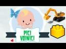 Jucarii LEGO pentru copii - Excavator Galben Sluban Mini Rooter Digger Excavator Builder Yellow Kids