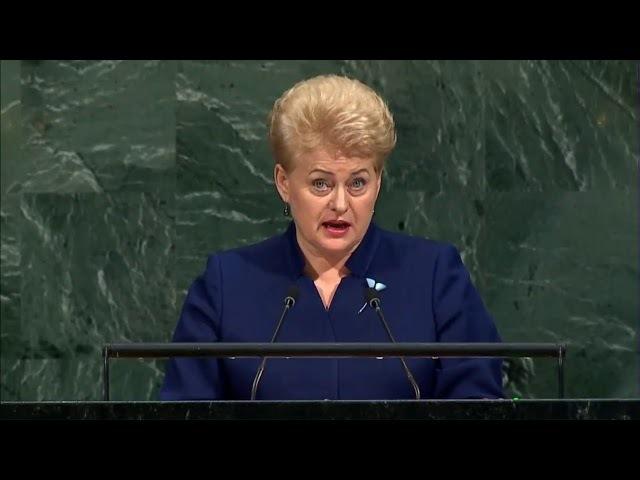 Даля Грибаускайте обвиняет Россию на ГА ООН