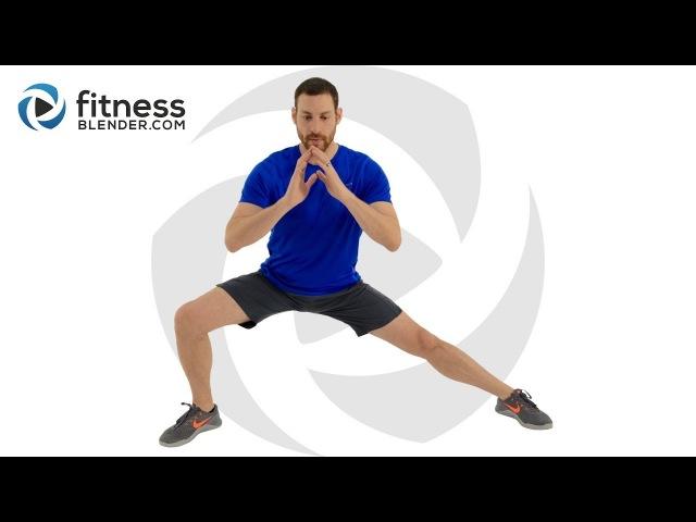 FitnessBlender - Bodyweight Only Strength and Endurance Challenge | Тренировка для нижней части тела без инвентаря (подойдет и новичкам!)