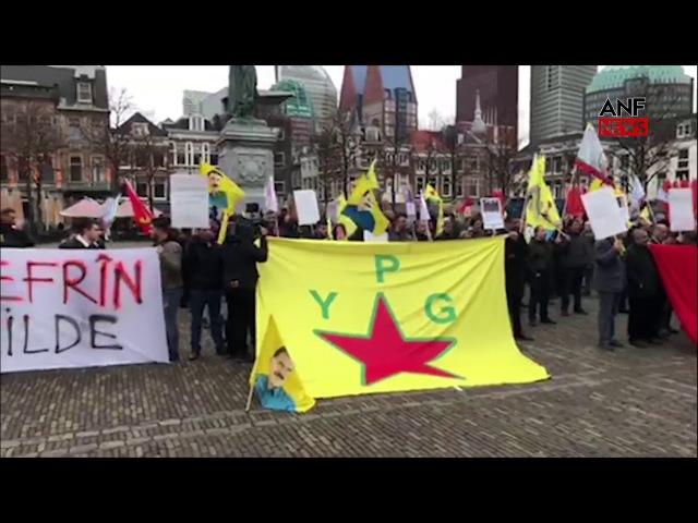 Den Haag'da Efrîn Eylemi