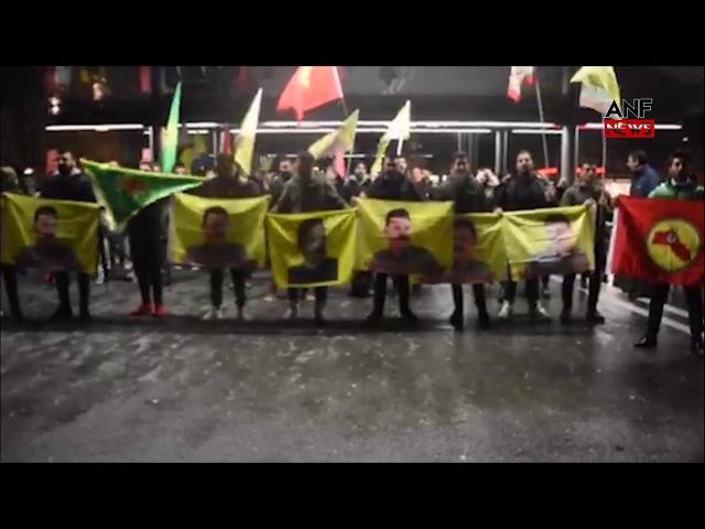 Bernde Efrîne Saldırı Protesto Edildi