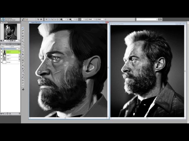 Logan drawing process - digital art speedpaint in Painter 2017