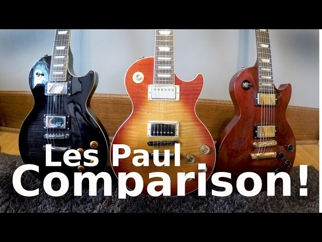Standard vs Studio vs Traditional! - Les Paul Tone Comparison!