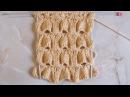 Объемный рельефный узор Вязание спицами Видеоурок 267