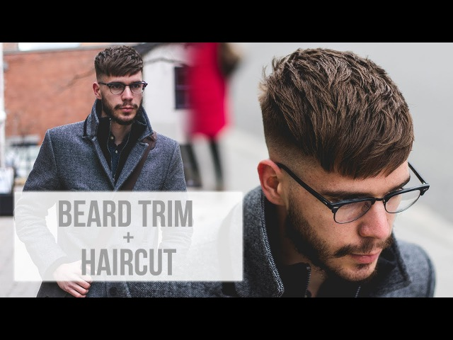 Men's Beard Trim Outline Textured Fringe Haircut | 2018 Hairstyle Trends