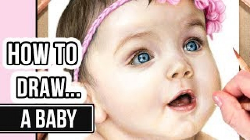 How to Draw a Face in Coloured Pencil | Baby Portrait Drawing Tutorial