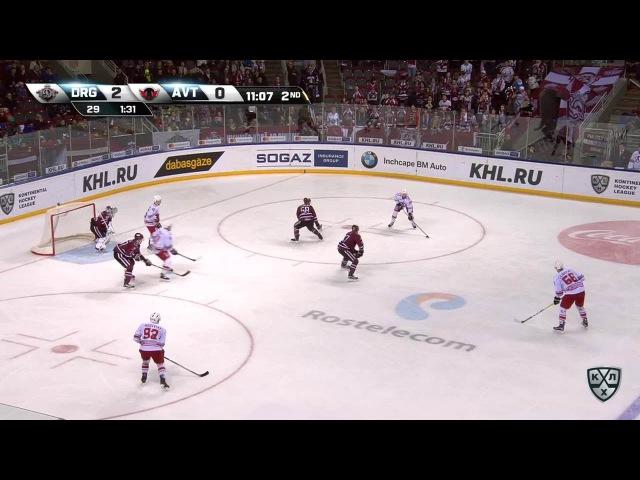 Моменты из матчей КХЛ сезона 16/17 • Гол. 2:1. Чайковски Михал (Автомобилист) мощно сходу 28.01