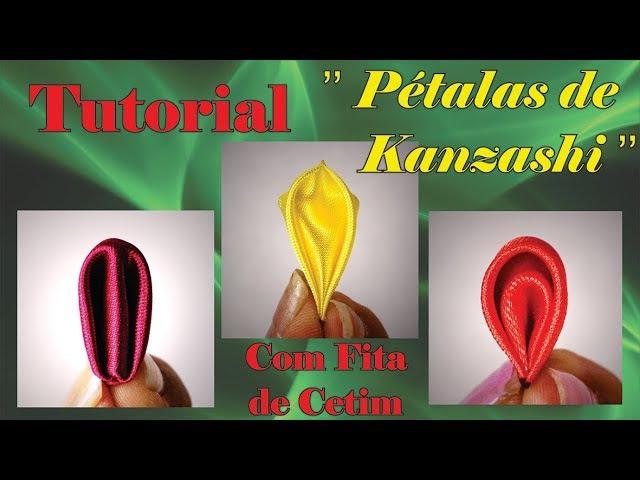 Pétalas de flor de fita cetim passo a passo tutorial pétalas kanzashi diy kanzashi petals
