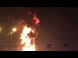 Раз два три елочка сгори !!! Городская елка в Южно-Сахалинске сгорела в Новый год